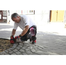 Genouillère Gelo noire/rouge avec protection anti-coupure DIN EN 14404:2010, 2 pièces-thumb-2
