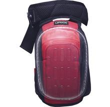 Genouillère Gelo noire/rouge avec protection anti-coupure DIN EN 14404:2010, 2 pièces-thumb-0