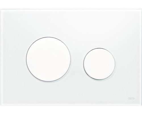 TECEloop plaque d''actionnement pour WC verre 9240650 blanc