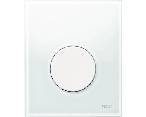 TECEloop plaque d''actionnement pour urinoir verre 9242650 blanche