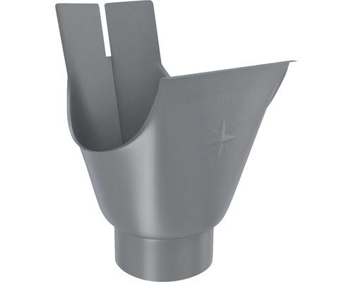 Rinnenstutzen Stahl anthrazit NW 127mm Größe 280 Ablauf NW 80mm
