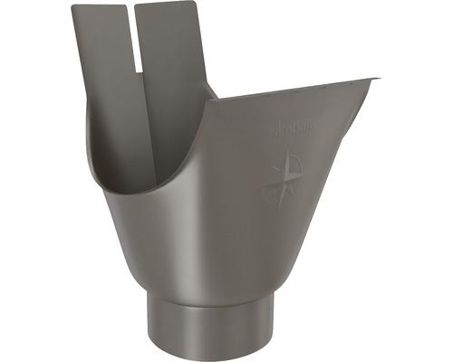Rinnenstutzen Stahl braun NW 127mm Größe 280 Ablauf NW 80mm
