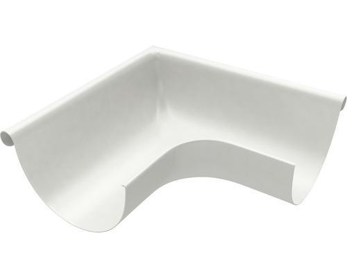 Angle de gouttière angle extérieur robuste en acier blanc-gris diamètre nominal 153mm taille 333-0