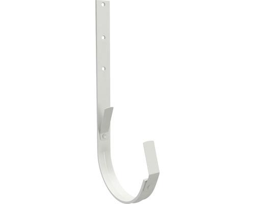 Crochet de gouttière Zambelli acier semi-circulaire blanc gris RAL 9002 DN 127 mm-0