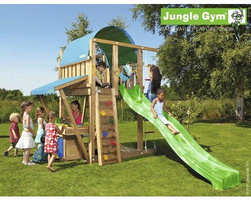 Klettergerüst Jungle : Jungle gym spielturm club inkl bridge modul und rutsche