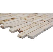 Mosaïque en pierre naturelle Quadrat golden cream poli 30.5x32.2cm-thumb-1