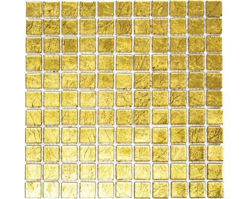 Mosaïque de verre Quadrat Crystal XCM8GO15 uni gold 30x30cm