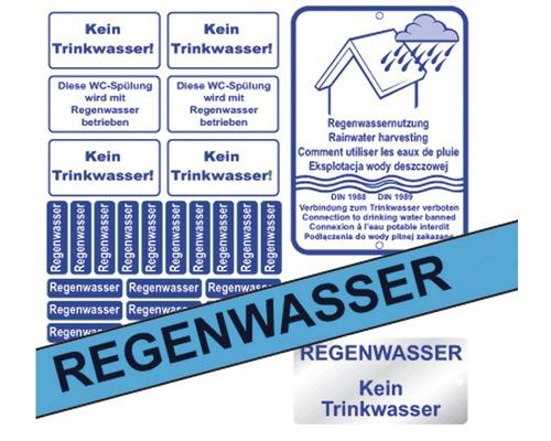 Kennzeichnungs-Set Regenwasser