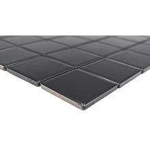 Mosaïque céramique Quadrat uni CD190 noir brillant 30x30cm-thumb-1