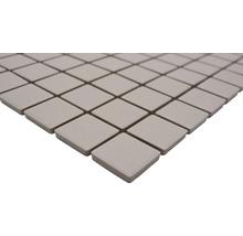 Mosaïque céramique Quadrat uni beige clair non émaillé 32.7x30.2cm-thumb-2