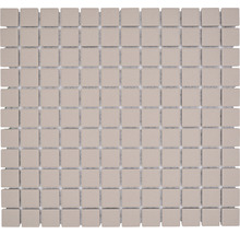 Mosaïque céramique Quadrat uni beige clair non émaillé 32.7x30.2cm-thumb-0