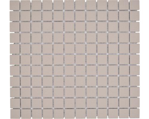 Mosaïque céramique Quadrat uni beige clair non émaillé 32.7x30.2cm-0