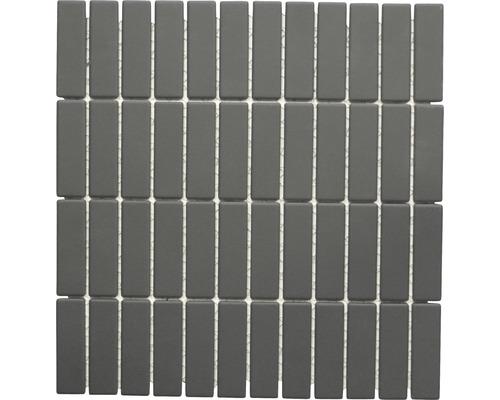 Mosaïque céramique noir non émaillé 28.65x29.5cm