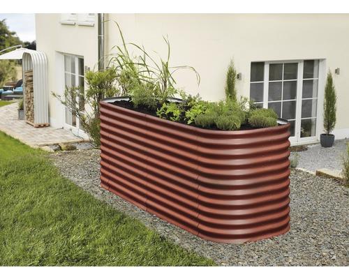 Extension plate-bande surélevée Basic, rouge brique