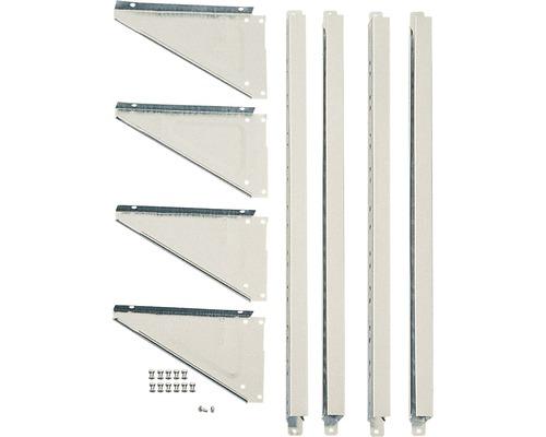 Kit de supports d''étagères ARROW sans tablettes pour abris à outils