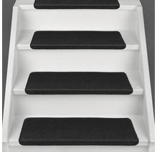 Marchette d''escalier Dynasty noir 28x65 cm-thumb-1