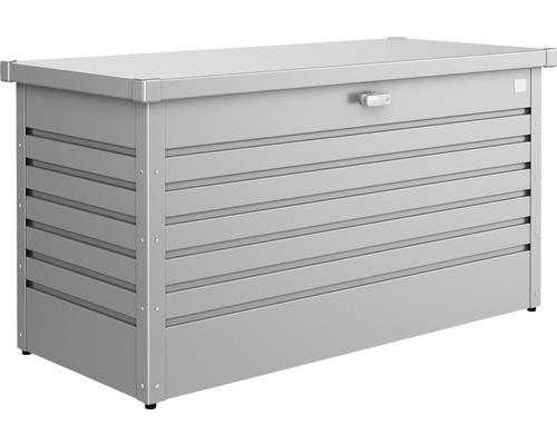 Caisse de rangement Biohort FreizeitBox 130, 134x62x71cm gris quartz-métallique