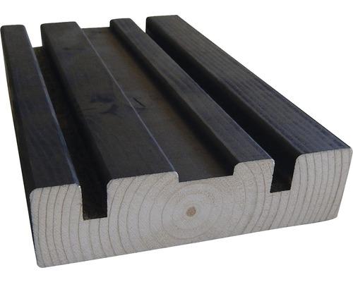 Soubassement HBFIX épicéa noir 33x120x4500 mm
