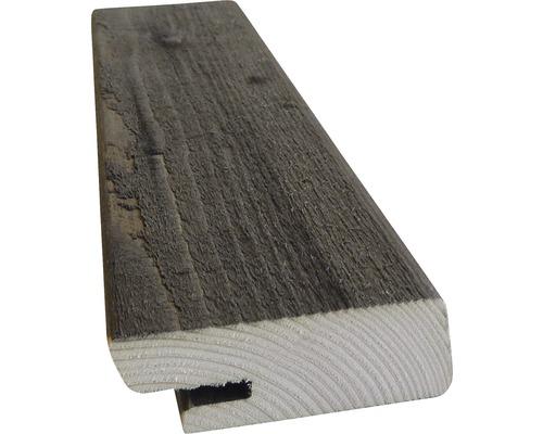 Bande en losange HBFIX épicéa traité en autoclave par imprégnation gris 27x68x4200 mm