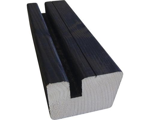 Soubassement HBFIX épicéa noir 33x57x4500 mm