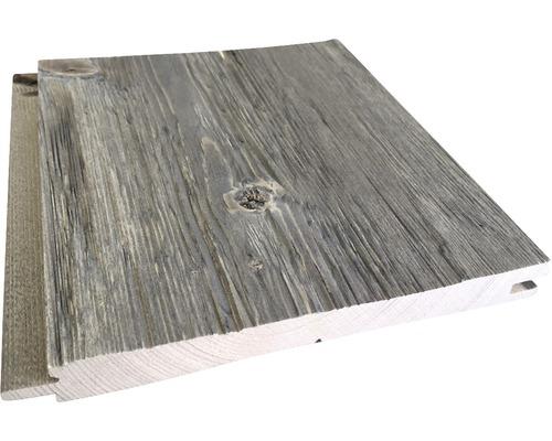 Lame à rainure et languette épicéa A haché gris 21x195x2650 mm