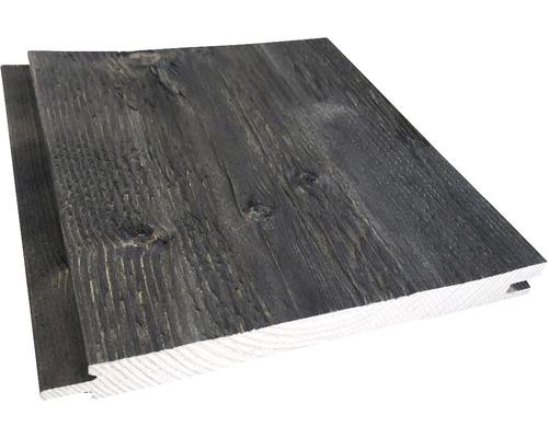 Lame à rainure et languette épicéa A haché noir 21x195x2650 mm-0