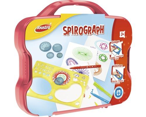 Kit créatif Pochoirs Spirograph 12 pièces dans un coffre