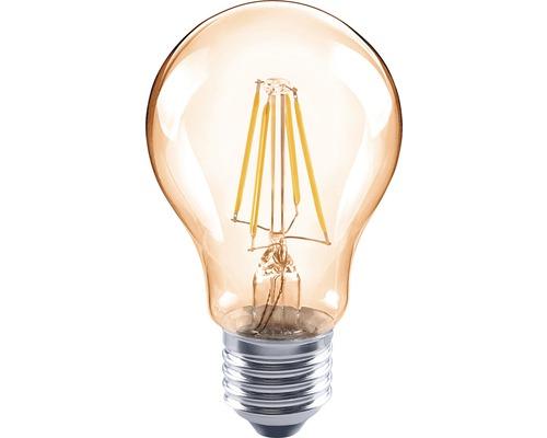 FLAIR Lampe LED E27/4W avec filament incandescent ambre A60