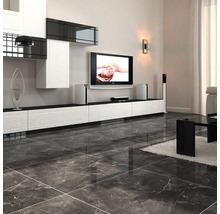 Carrelage de sol Premium Marble anthracite 60x60 cm-thumb-1