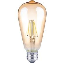 FLAIR Lampe LED E27/4W avec filament incandescent ambre ST64-thumb-0