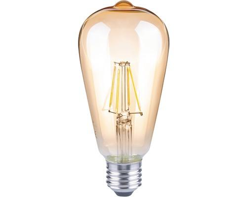 FLAIR Lampe LED E27/4W avec filament incandescent ambre ST64-0