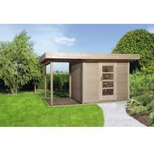Abri de jardin weka Finline Profil taille3 avec plancher et toit en appentis, 295x300cm, nature-thumb-0