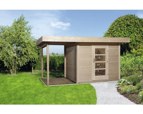 Abri de jardin weka Finline Profil taille3 avec plancher et toit en appentis, 295x300cm, nature-0