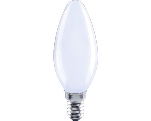 FLAIR Lampe bougie LED E14/2W avec filament incandescent mat/blanc C35-0