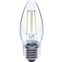 FLAIR Lampe bougie LED E27/2W avec filament incandescent transparent C35-thumb-0