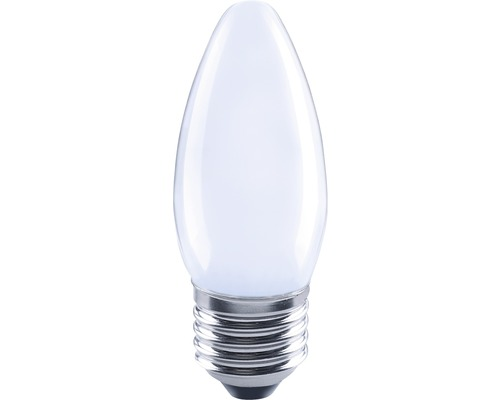 FLAIR Lampe bougie LED E27/2W avec filament incandescent mat/blanc C35-0
