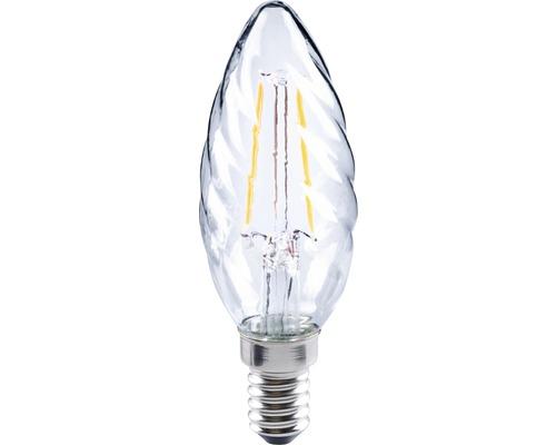 FLAIR Lampe bougie LED E14/2W avec filament incandescent transparent CT35