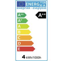 FLAIR Lampe bougie LED flamme coup de vent E27/4W avec filament incandescent mat/blanc CL35-thumb-1