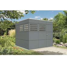 Abri de jardin Skanholz CrossCube Haus Brisbane 3 253 x 253 cm, gris ardoise-thumb-0