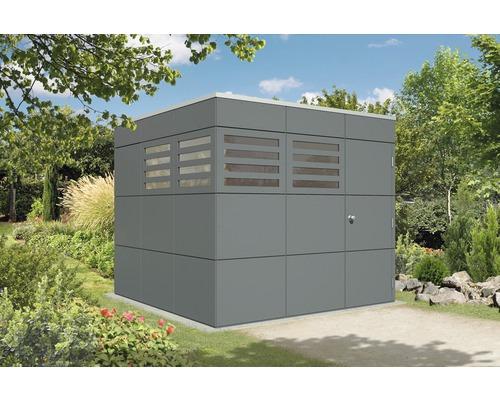 Abri de jardin Skanholz CrossCube Haus Brisbane 3 253 x 253 cm, gris ardoise