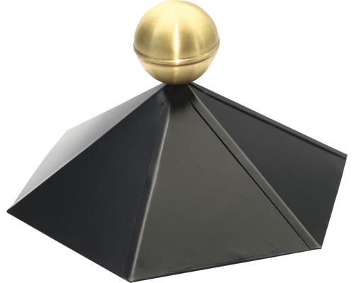 Ornement de faîtage SKAN HOLZ pour pavillon hexagonal, noir