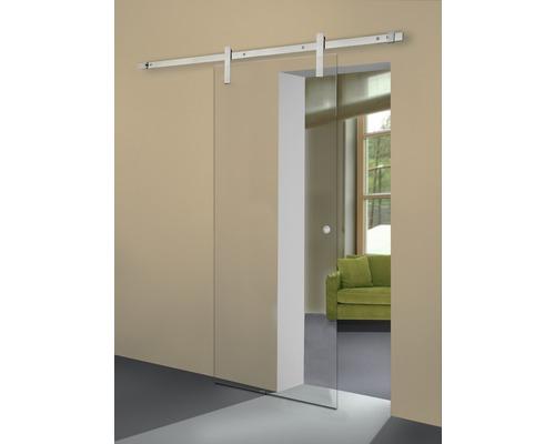 Vantail de porte coulissante en verre transparent Pertura 2043x920x8 mm pour ferrure Tildra,Tinna,Lilja gauche/droite