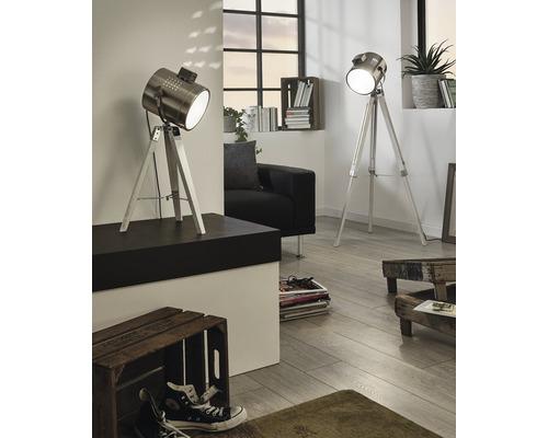 Lampe de table Upstreet monolampe blanc patina/nickel mat 94371