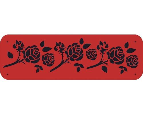 Pochoir roses 44 x 14 cm