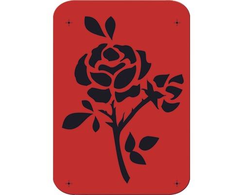 Pochoir rose 14 x 21 cm