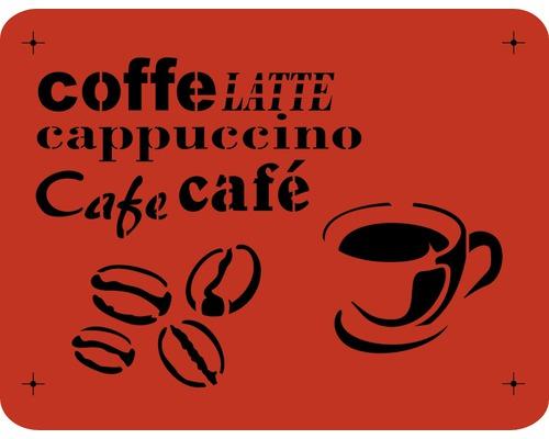 Pochoir café 56 x 43 cm