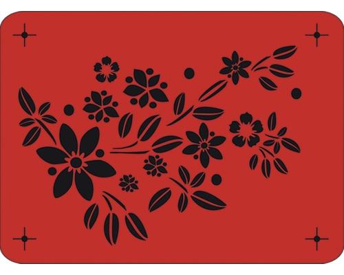 Pochoir motif de fleurs 43 x 56 cm