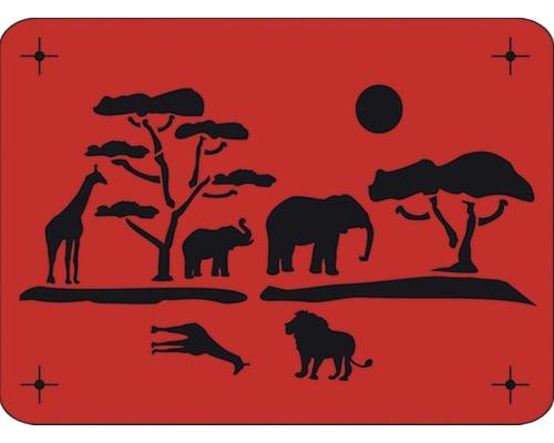 Pochoir Afrique 56 x 43 cm