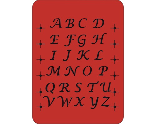 Pochoir grandes lettres italiques 43 x 56 cm