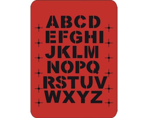 Pochoir grandes lettres 43 x 56 cm